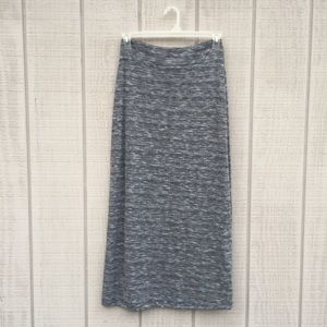 Variegated grey maxi skirt, S 4/6 {Faded Glory}